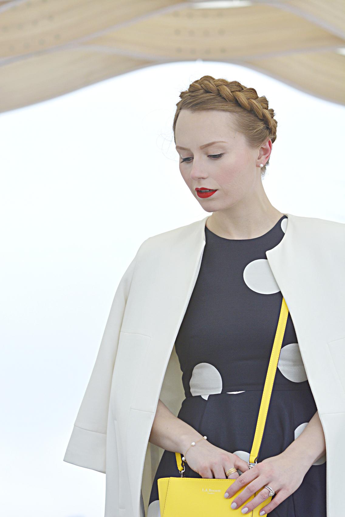 LK Bennett Polka Dot Midi Dress Spring 2015 1