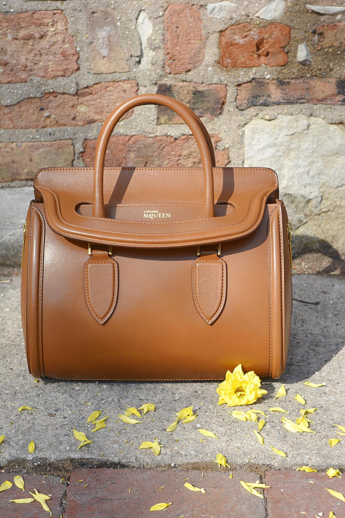 Alexander McQueen Small Heroine Bag Purse in Burnt Camel 4