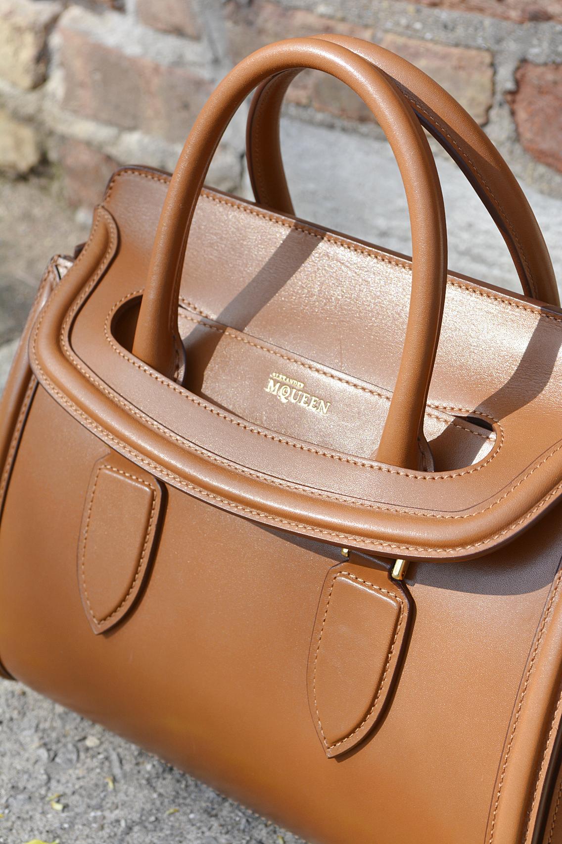 Alexander McQueen Small Heroine Bag Purse in Burnt Camel 7