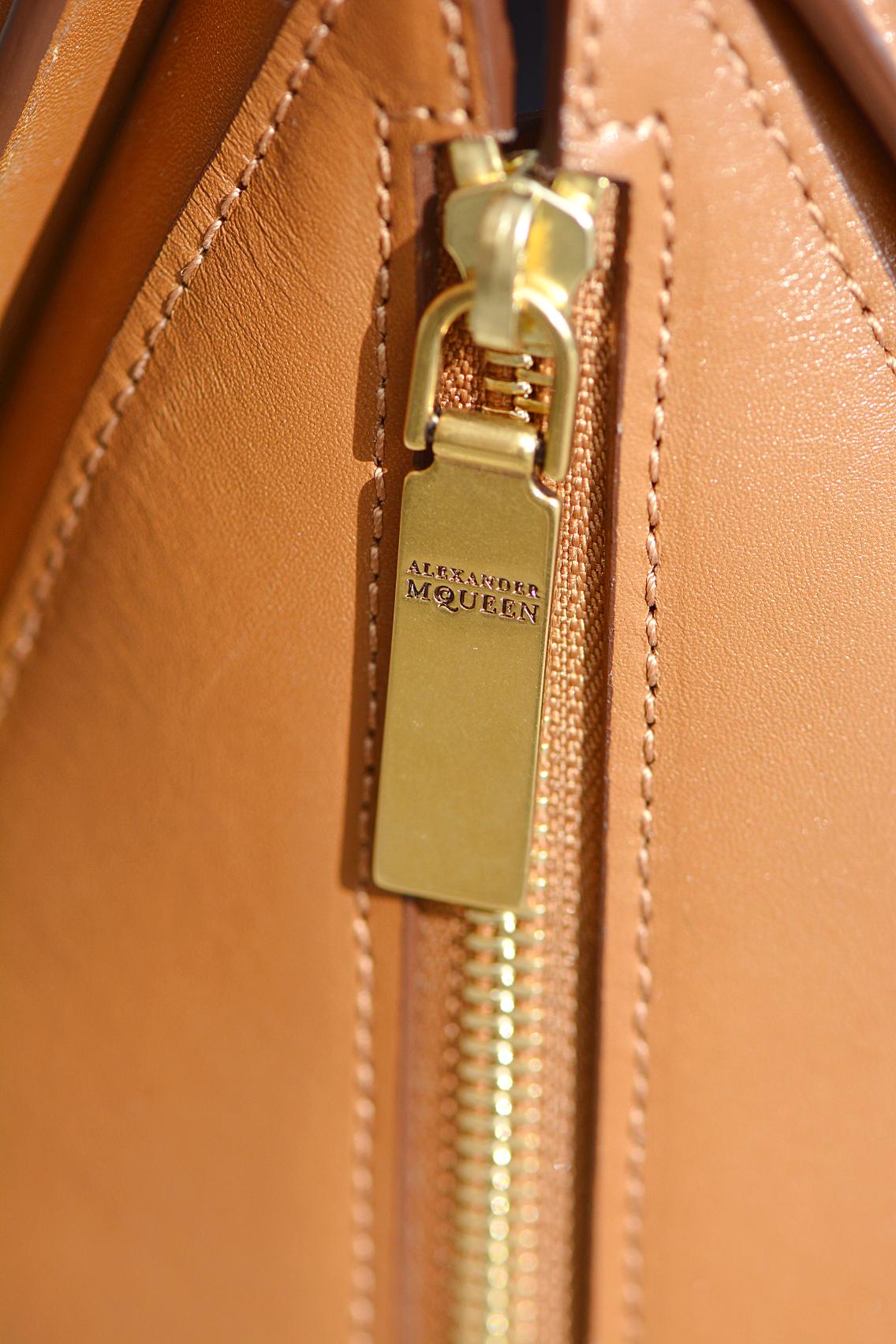 Alexander McQueen Small Heroine Bag Purse in Burnt Camel 12