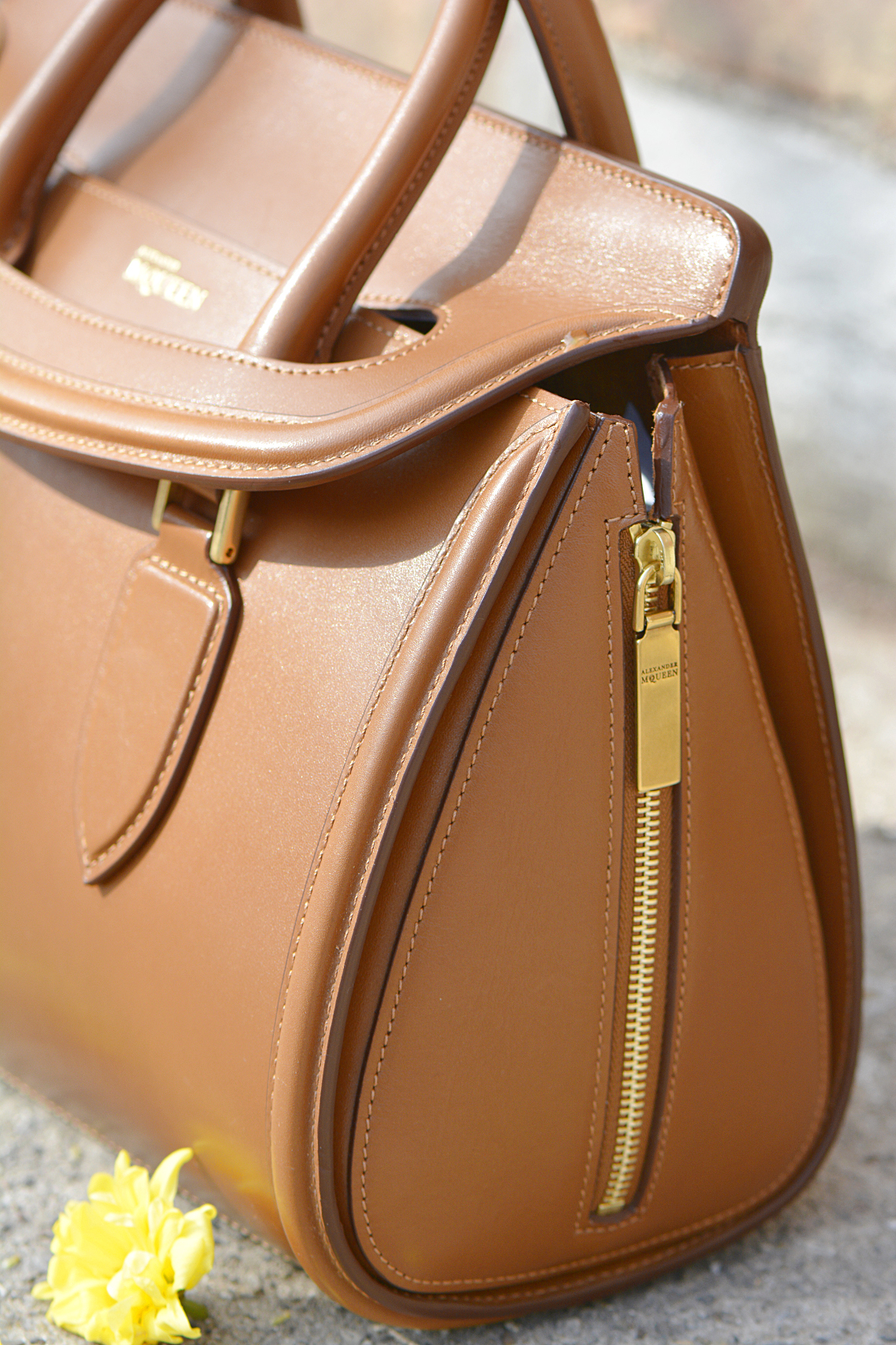 Alexander McQueen Small Heroine Bag Purse in Burnt Camel 15