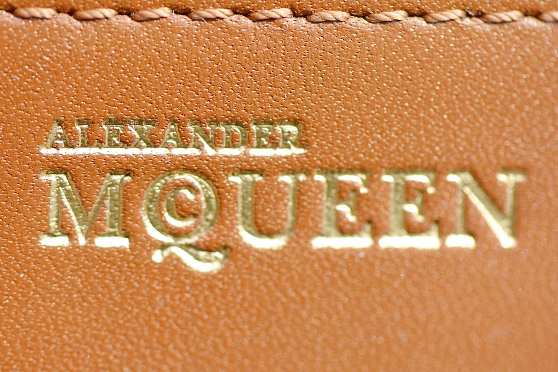 Alexander McQueen Small Heroine Bag Purse in Burnt Camel 20
