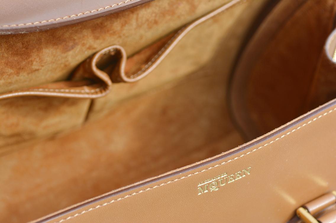 Alexander McQueen Small Heroine Bag Purse in Burnt Camel 23