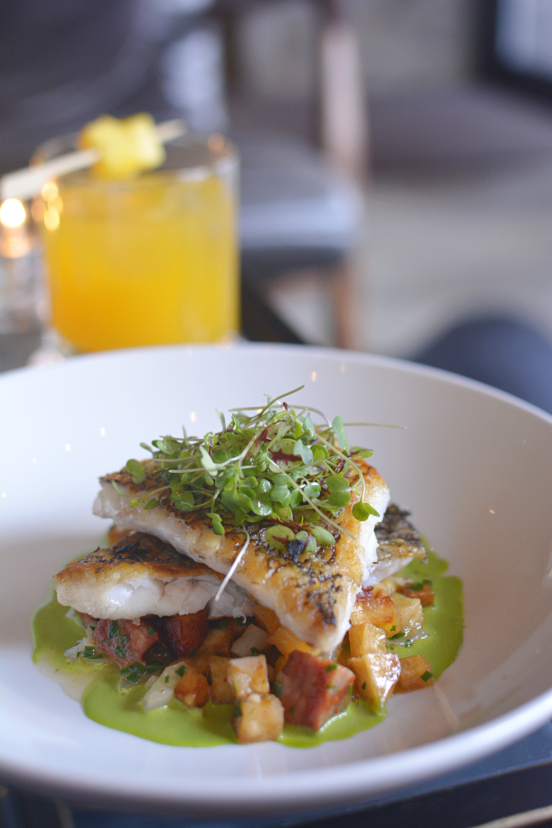 Presidio Chicago Wild Black Bass with Potato Chorizo 1