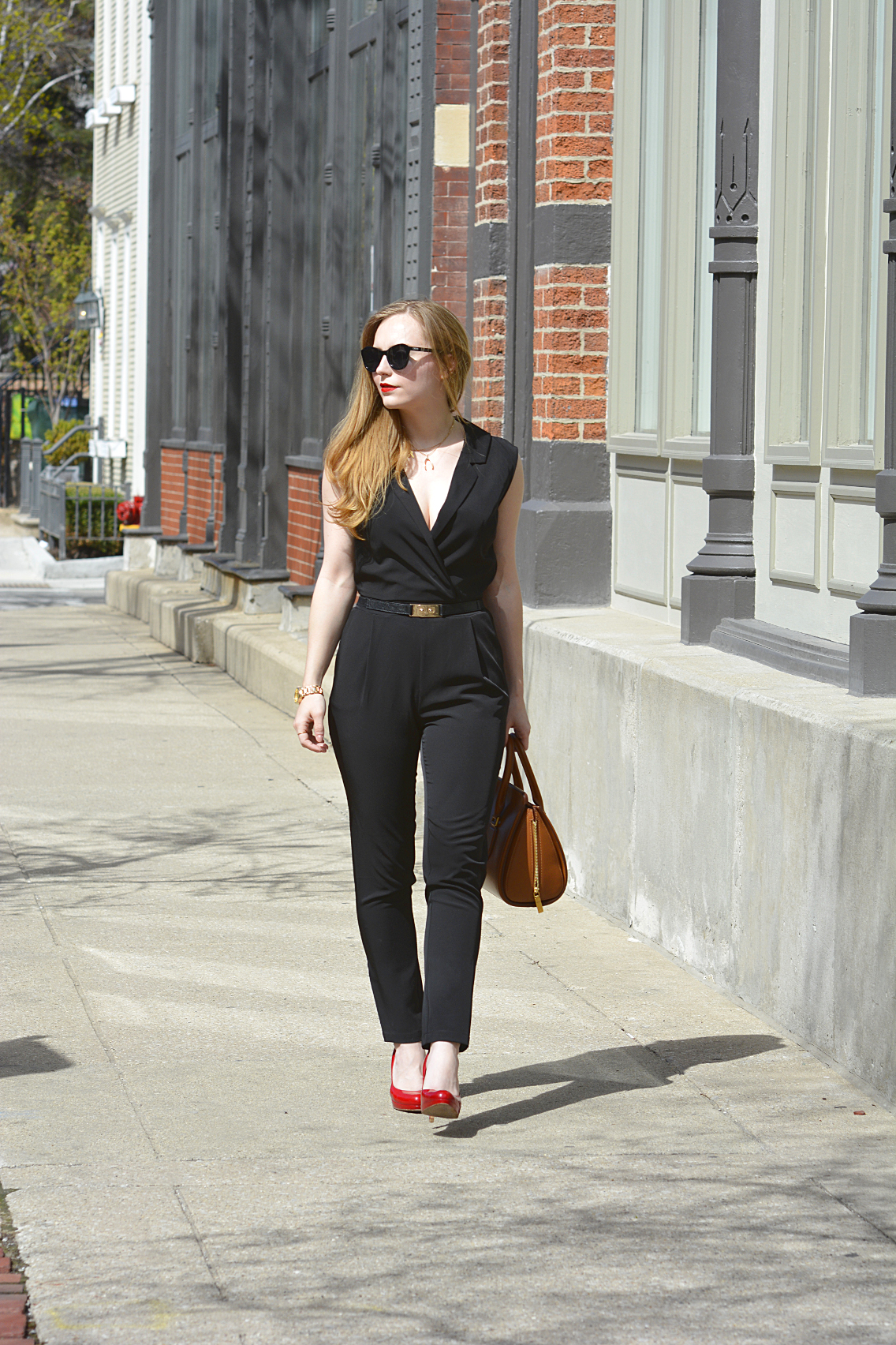 Black Jumpsuit with Red Lips 18
