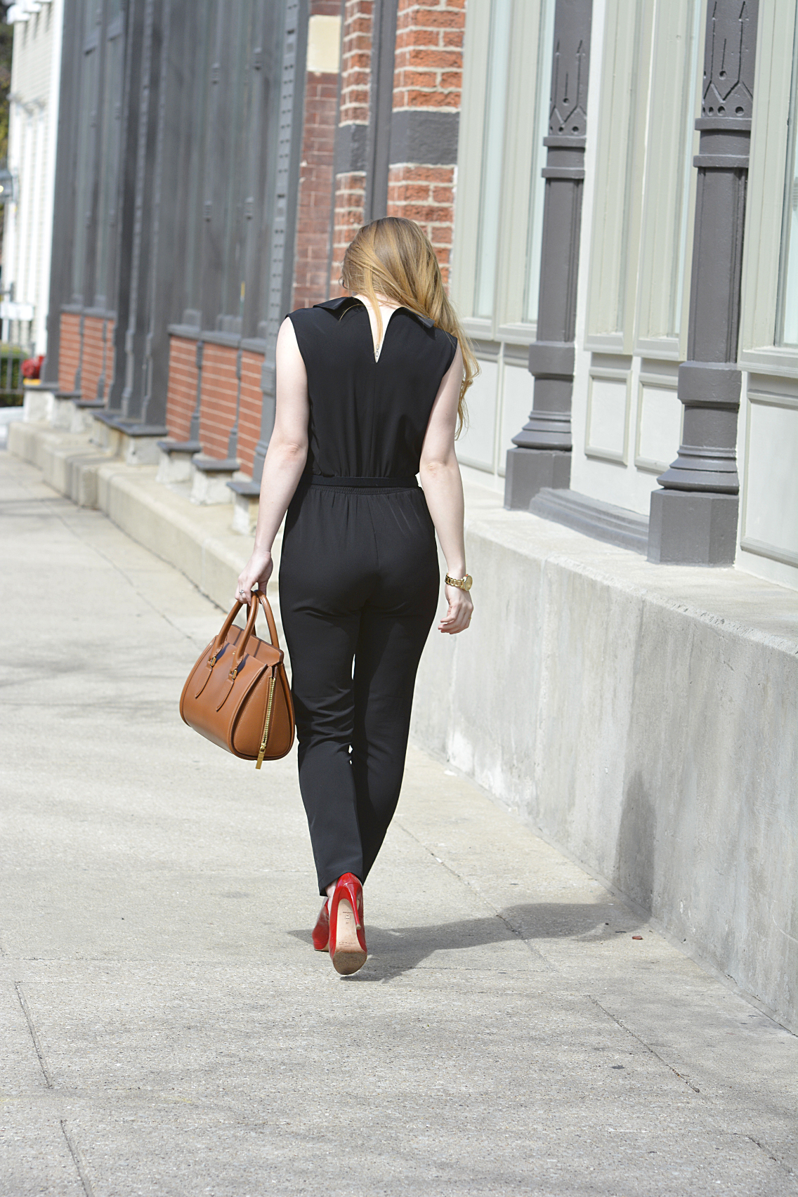 Black Jumpsuit with Red Lips 16