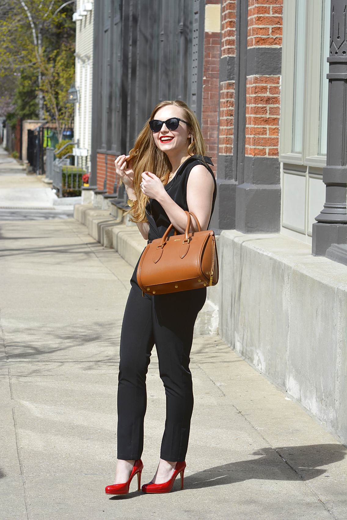 Black Jumpsuit with Red Lips 15