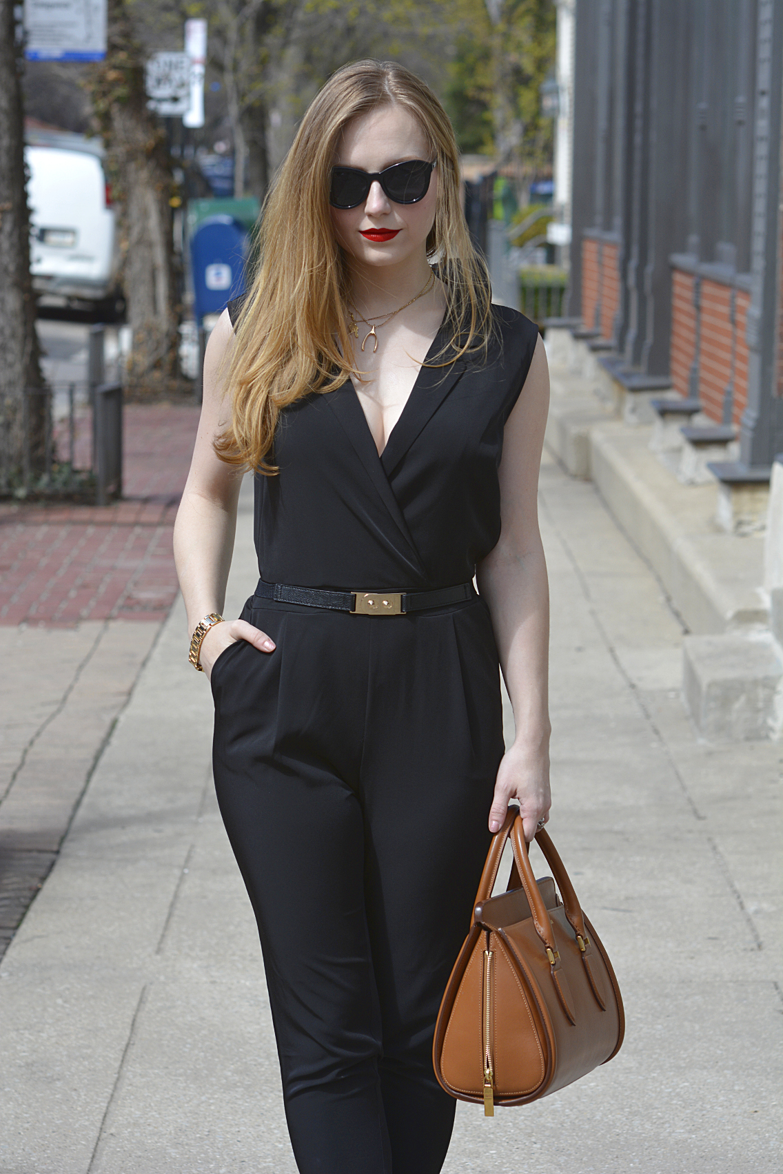 Black Jumpsuit with Red Lips 14