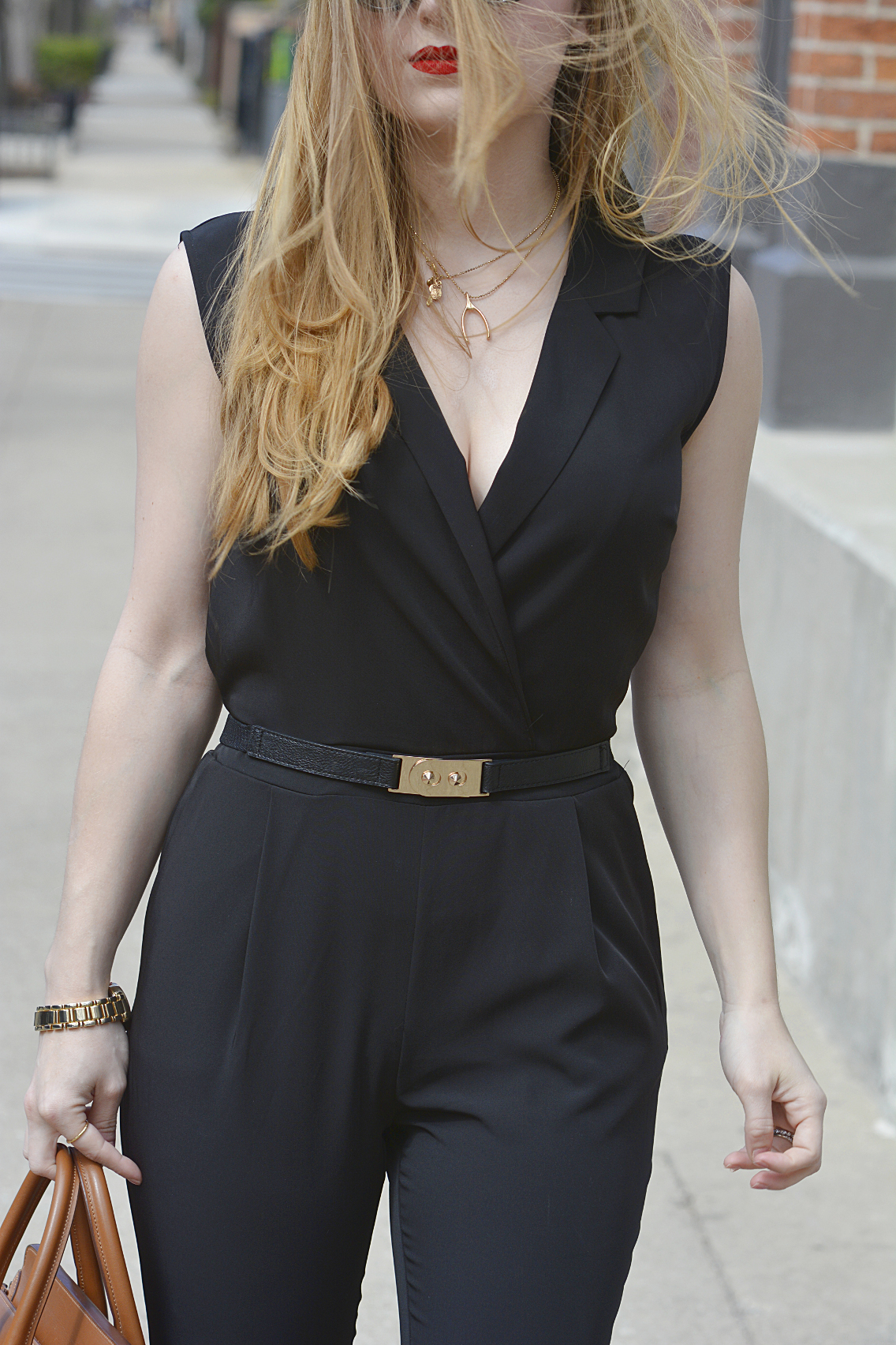 Black Jumpsuit with Red Lips 4