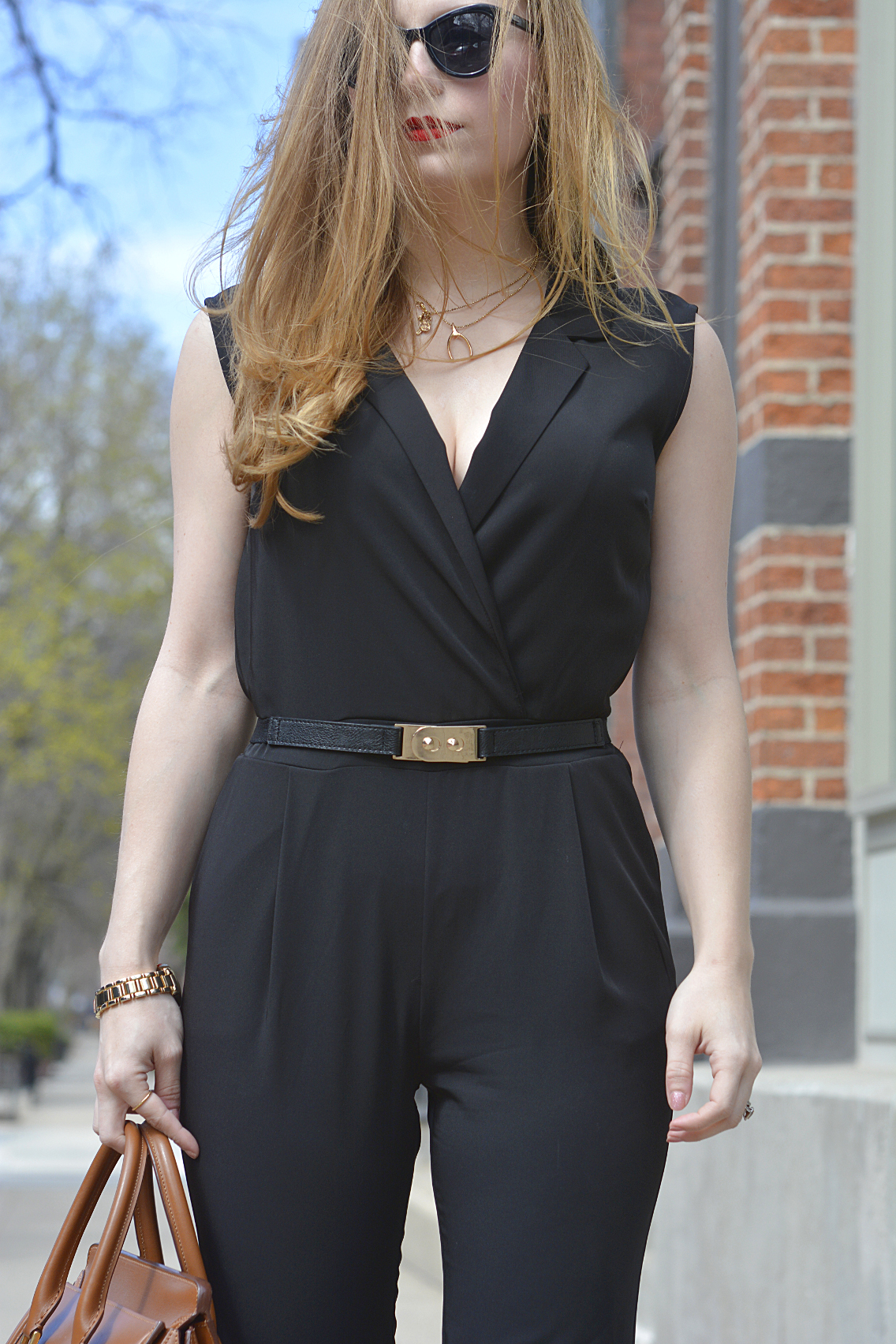 Black Jumpsuit with Red Lips 3