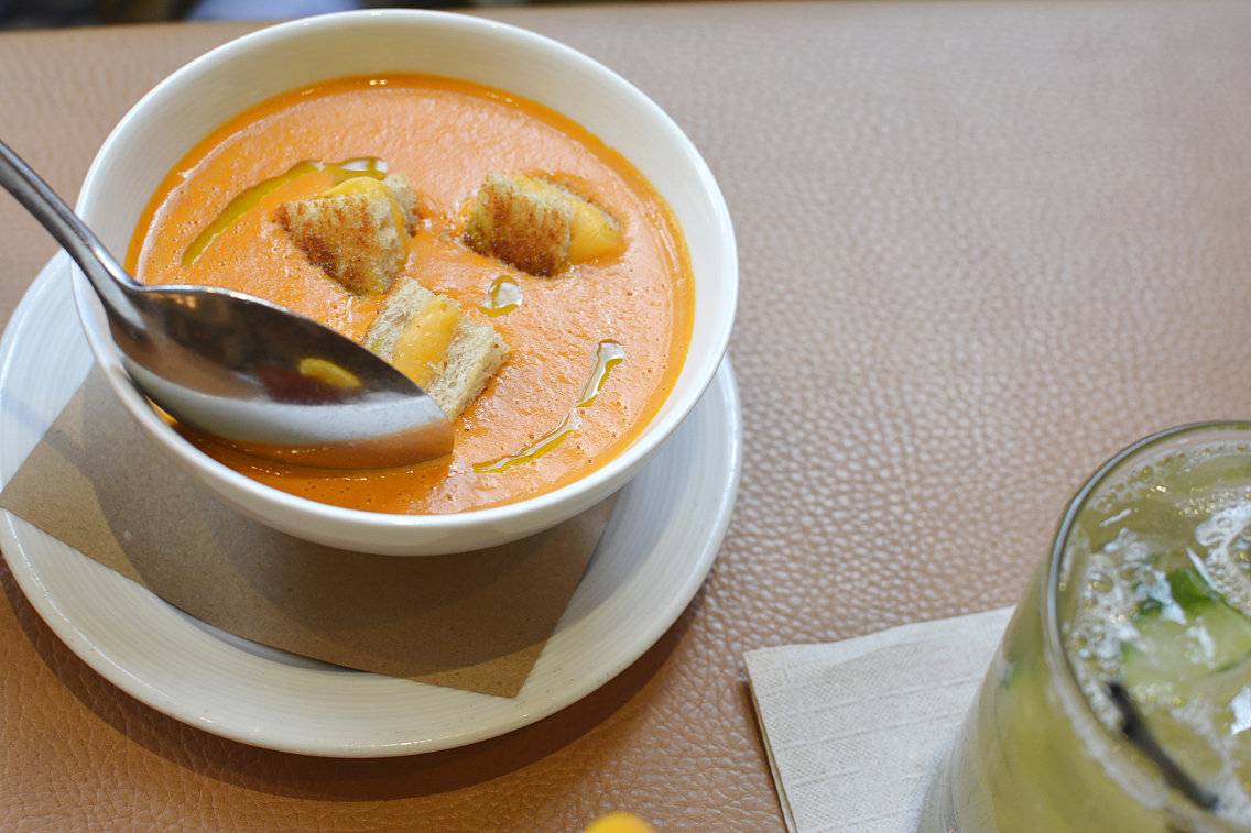 David Burke's Primehouse Chicago Grilled Cheese Tomato Soup