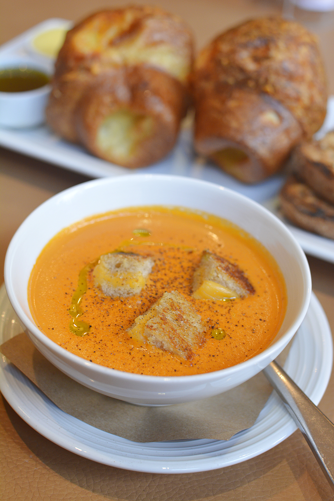 David Burke's Primehouse Chicago Grilled Cheese Tomato Soup 5