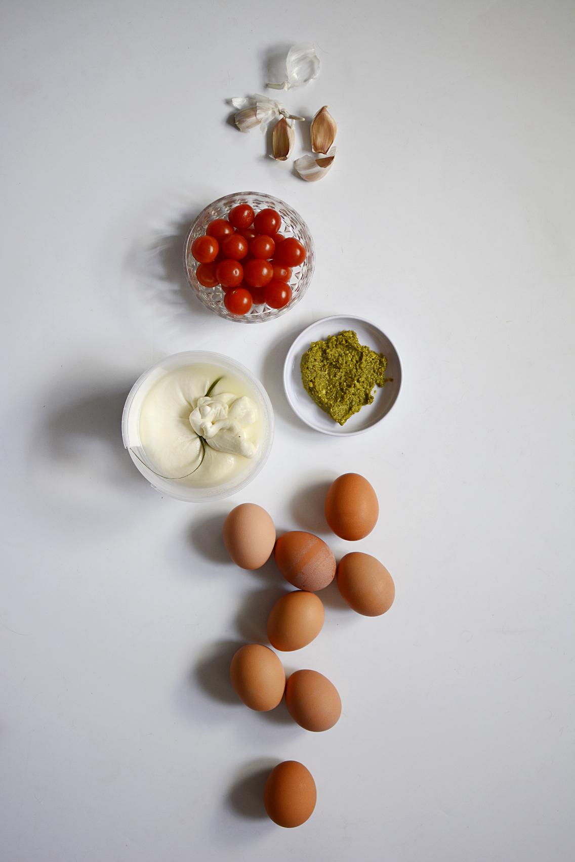 Burrata Caprese Frittata Recipe 1