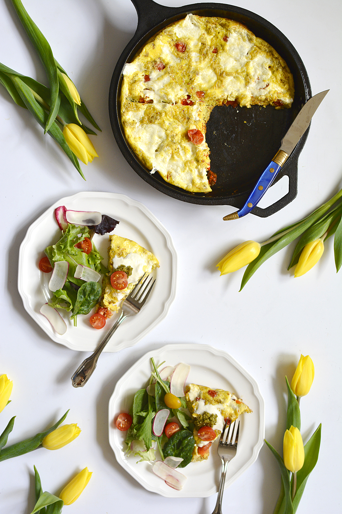 Burrata Caprese Frittata Recipe 3
