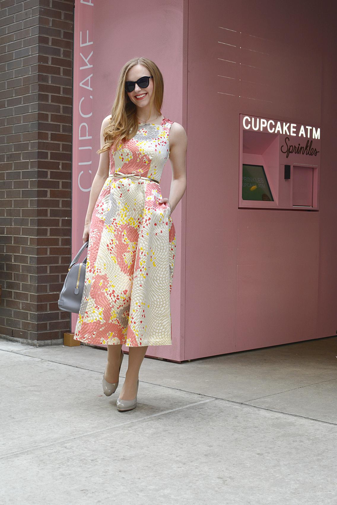 LK Bennett Chicago Gardo Jacquard Dress Sprinkles Cupcakes 2