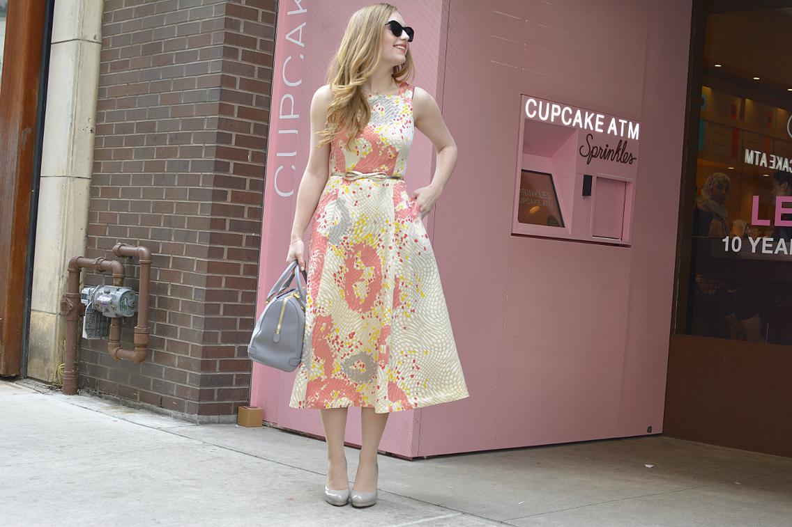 LK Bennett Chicago Gardo Jacquard Dress Sprinkles Cupcakes 3