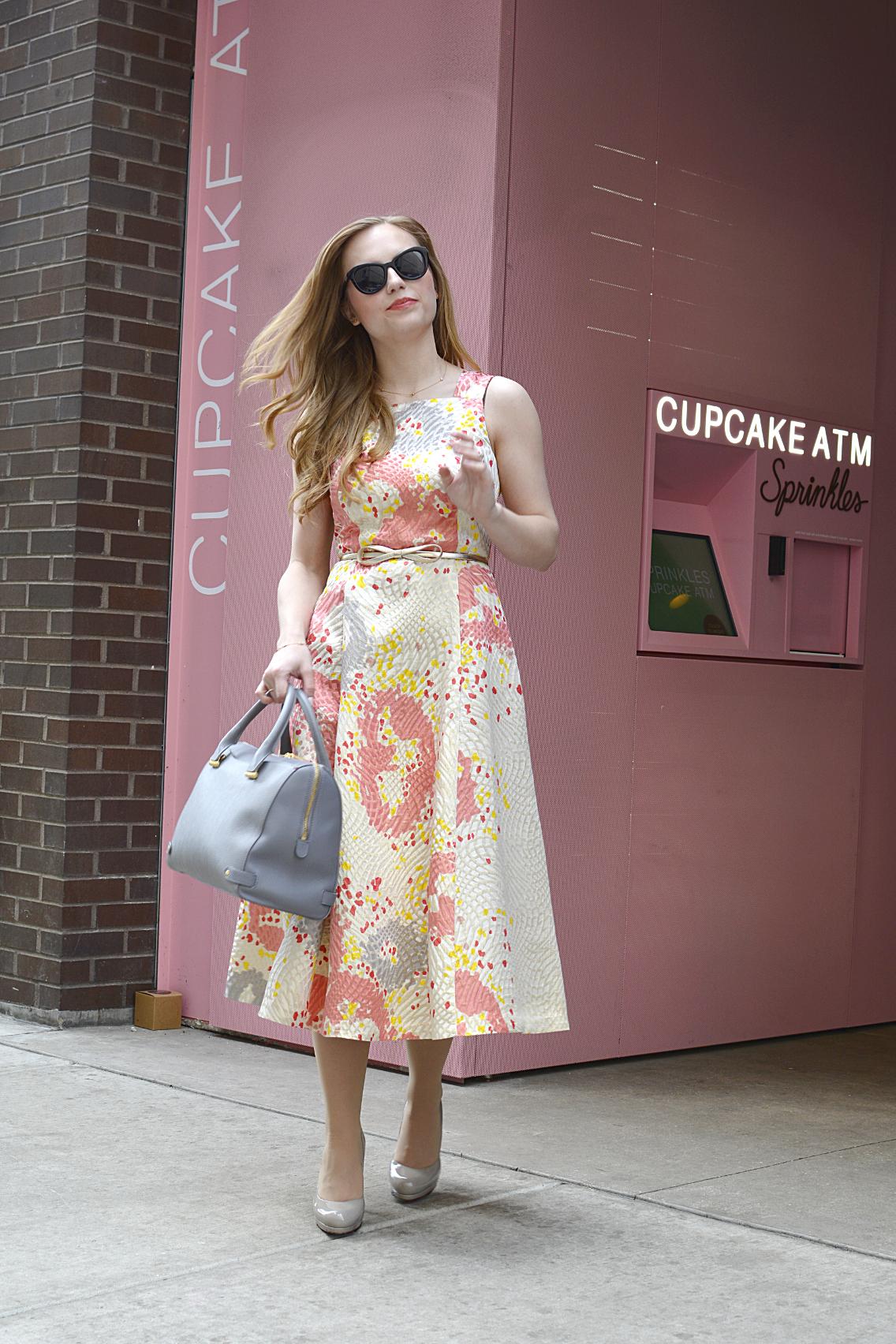 LK Bennett Chicago Gardo Jacquard Dress Sprinkles Cupcakes 7