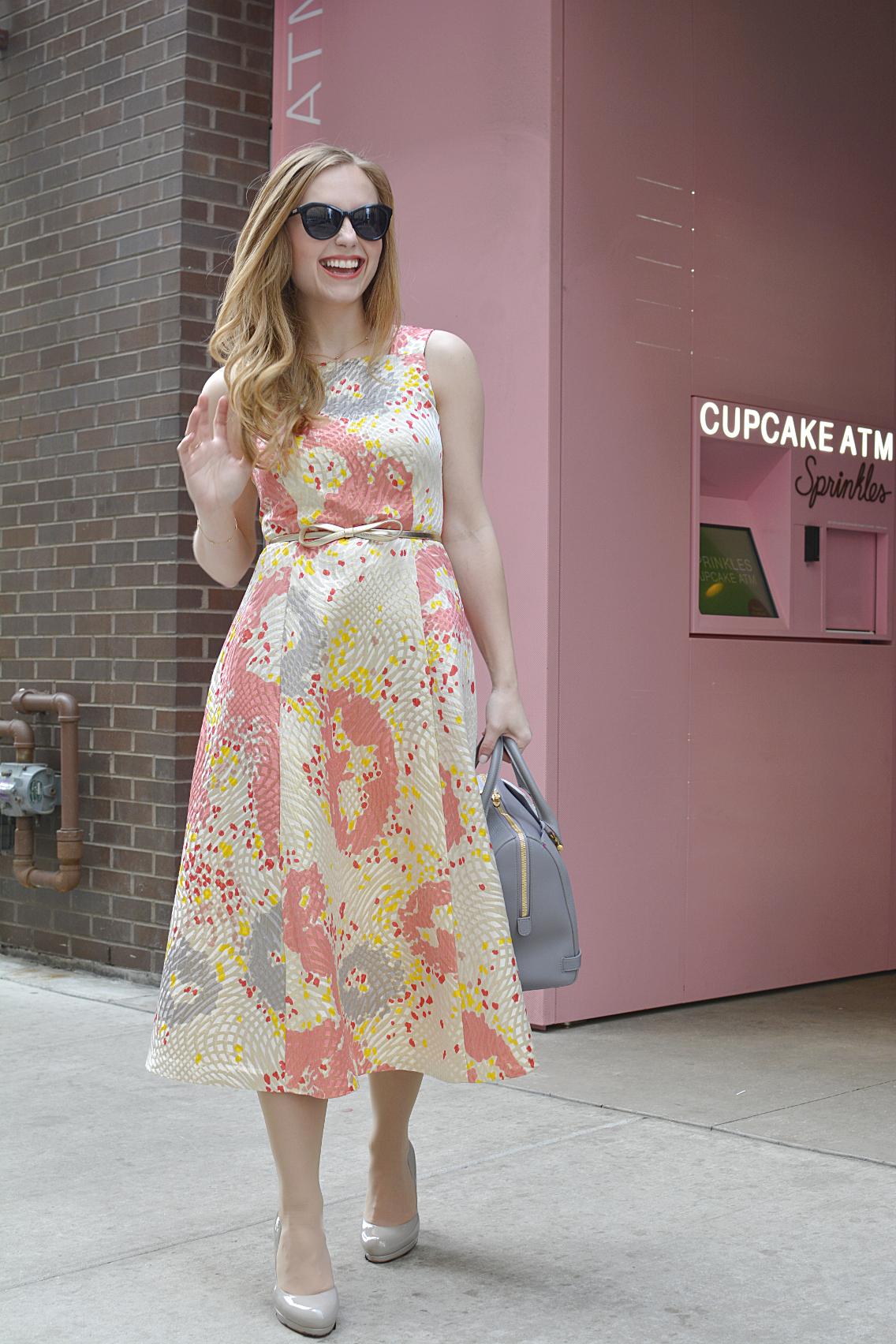 LK Bennett Chicago Gardo Jacquard Dress Sprinkles Cupcakes 8
