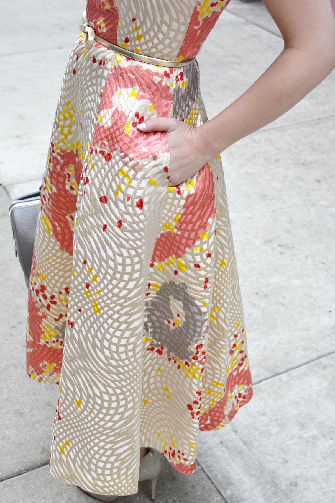 LK Bennett Chicago Gardo Jacquard Dress Sprinkles Cupcakes 11