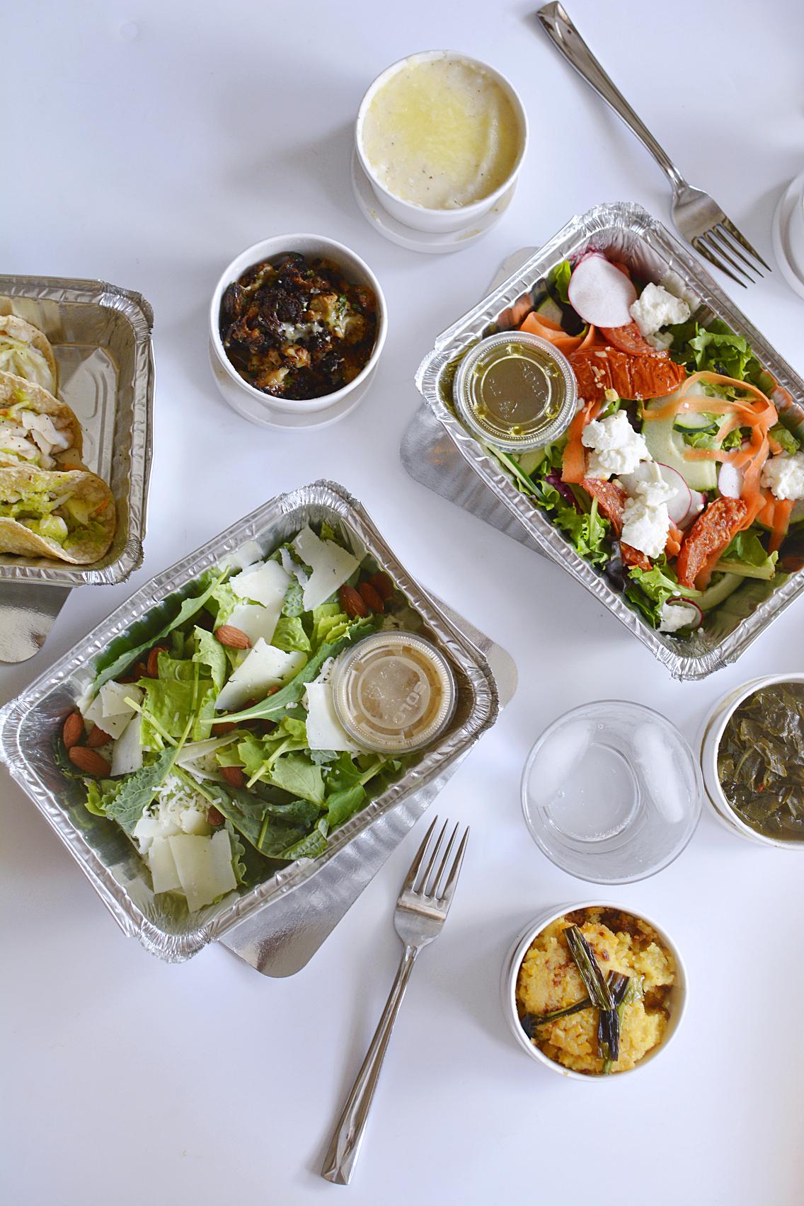 County BBQ DMK Kale and Romaine Caesar Salad Field Greens