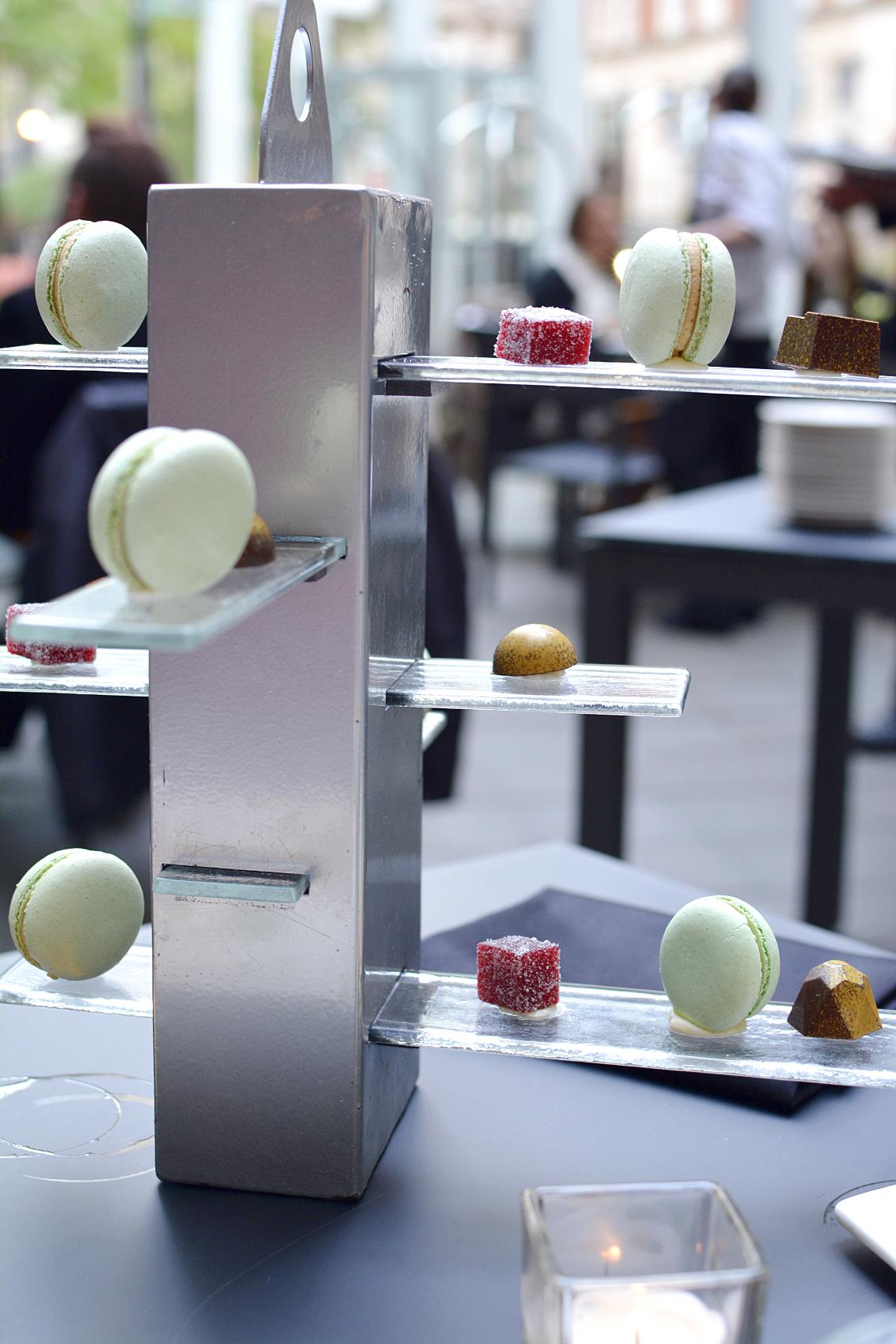 Sofitel Chicago Mignardises macarons, pate fruits, molded chocolates