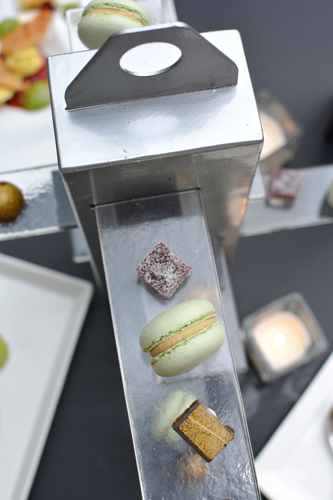 Sofitel Chicago Mignardises macarons, pate fruits, molded chocolates 4
