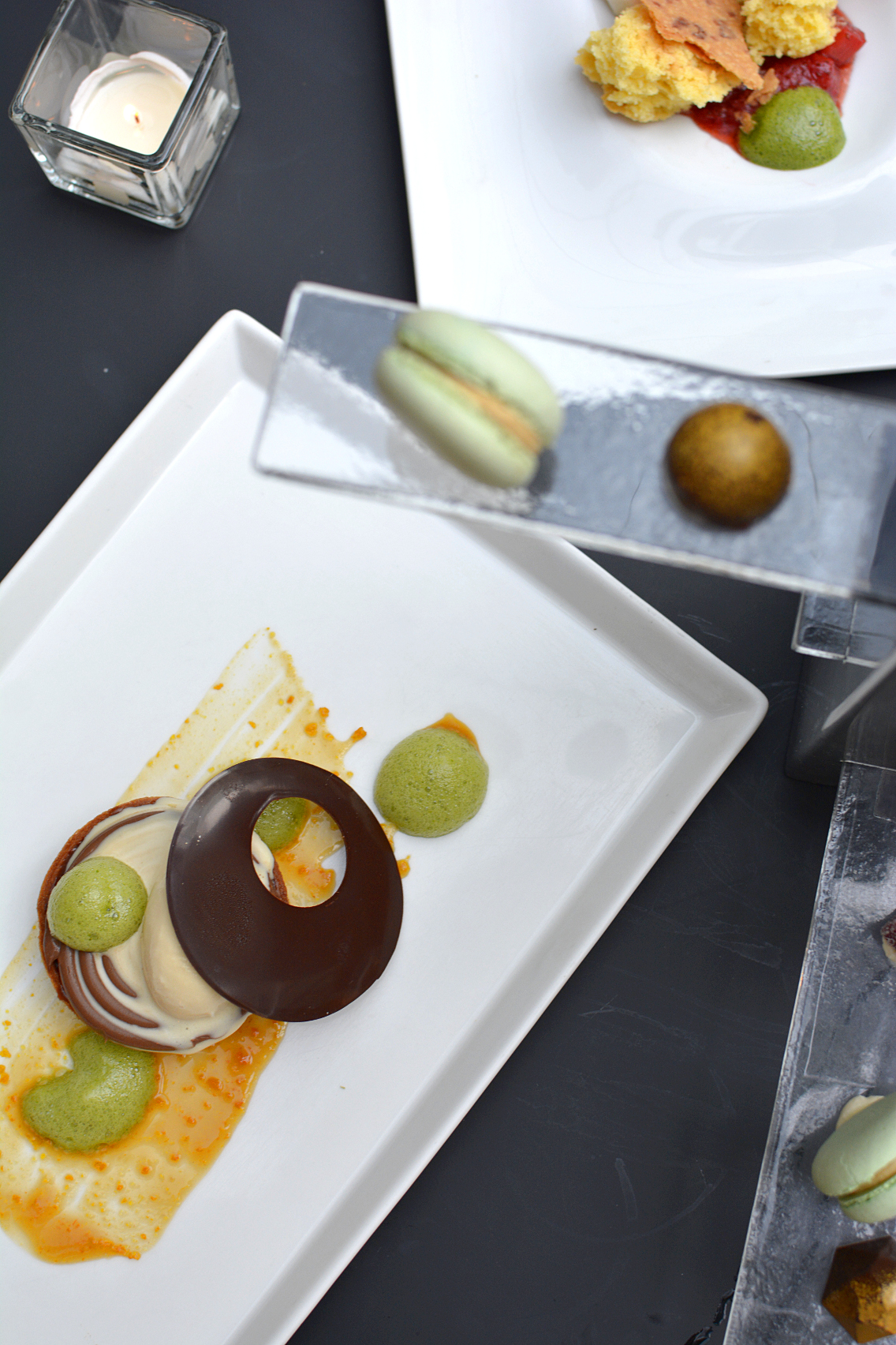 Sofitel Chicago Mignardises macarons, pate fruits, molded chocolates 5