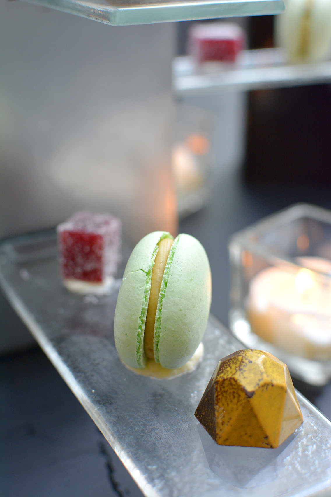 Sofitel Chicago Mignardises macarons, pate fruits, molded chocolates 6