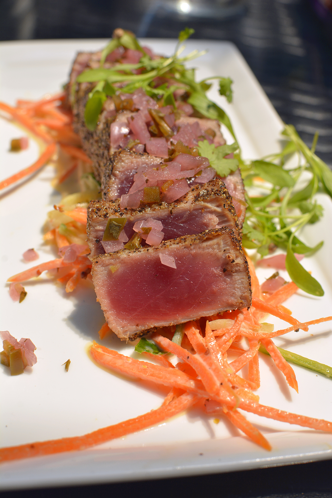 freestyle restaurant Dana Hotel Seared Pepper Crusted Tuna