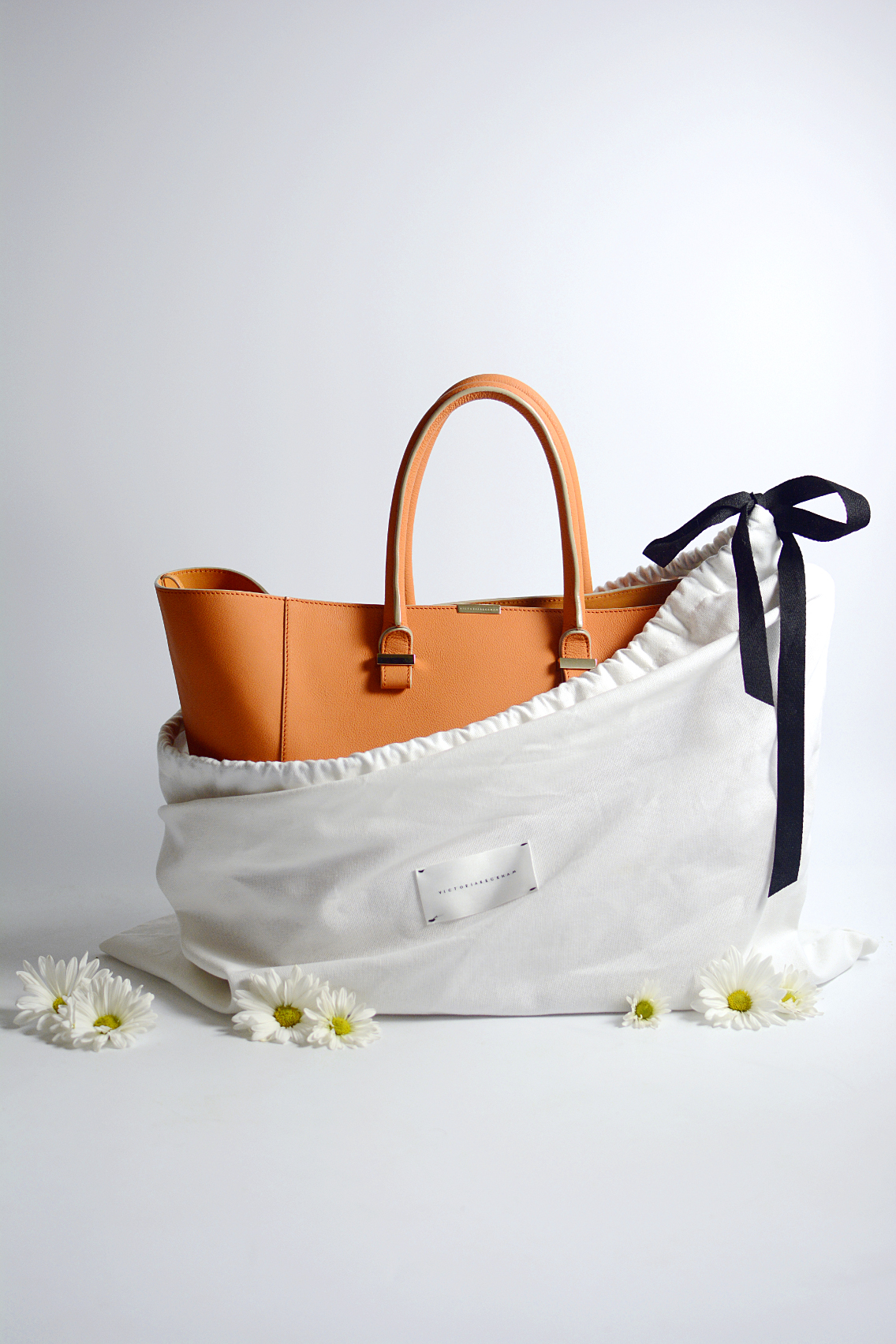 Victoria Beckham Liberty Tote Persimmon Orange 2