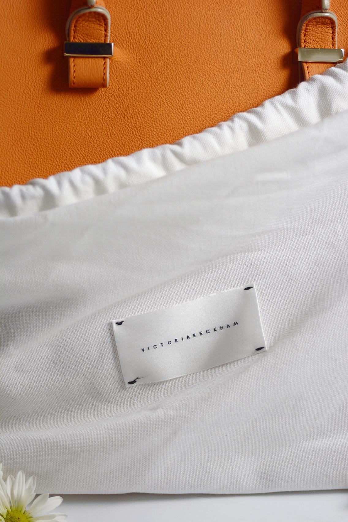 Victoria Beckham Liberty Tote Persimmon Orange 3