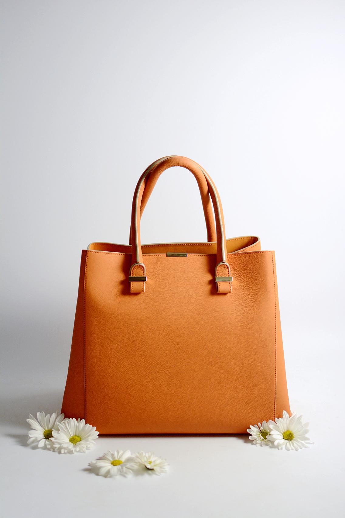 Victoria Beckham Liberty Tote Persimmon Orange 17