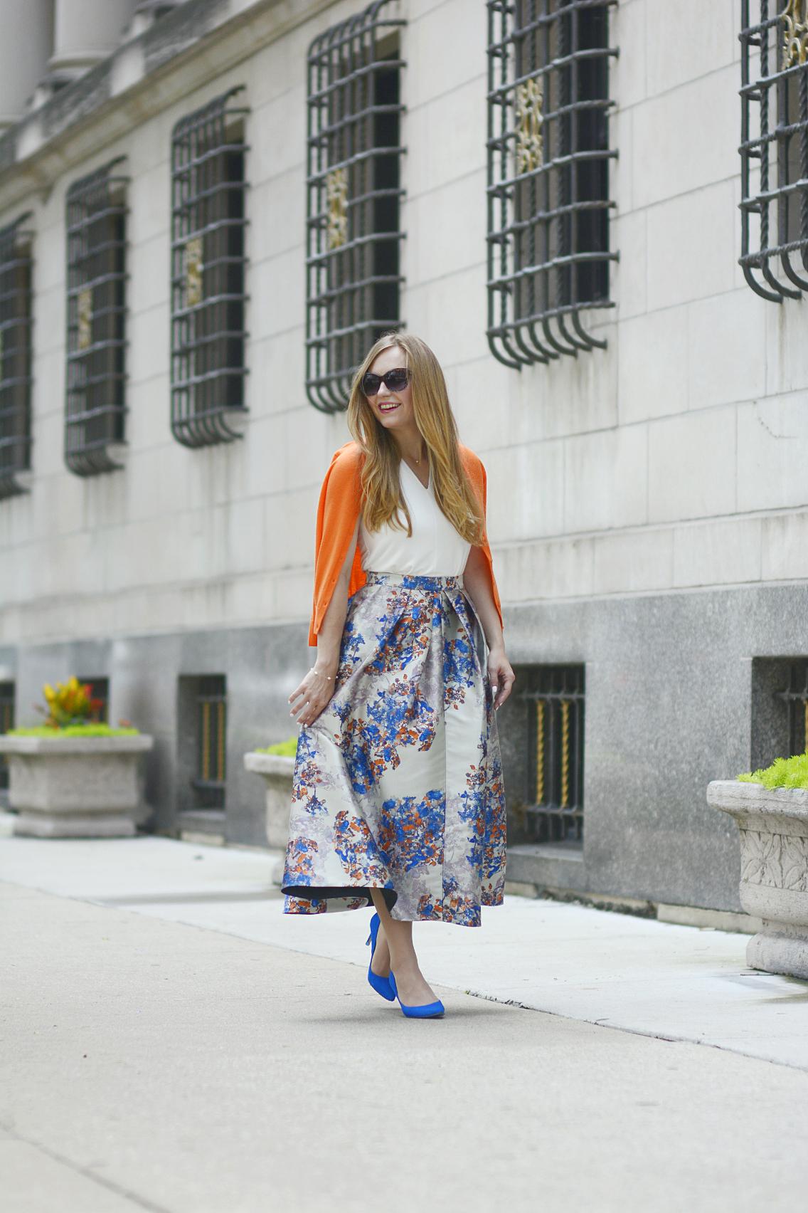 LK Bennett Kenton Emilia Print Skirt Summer 20