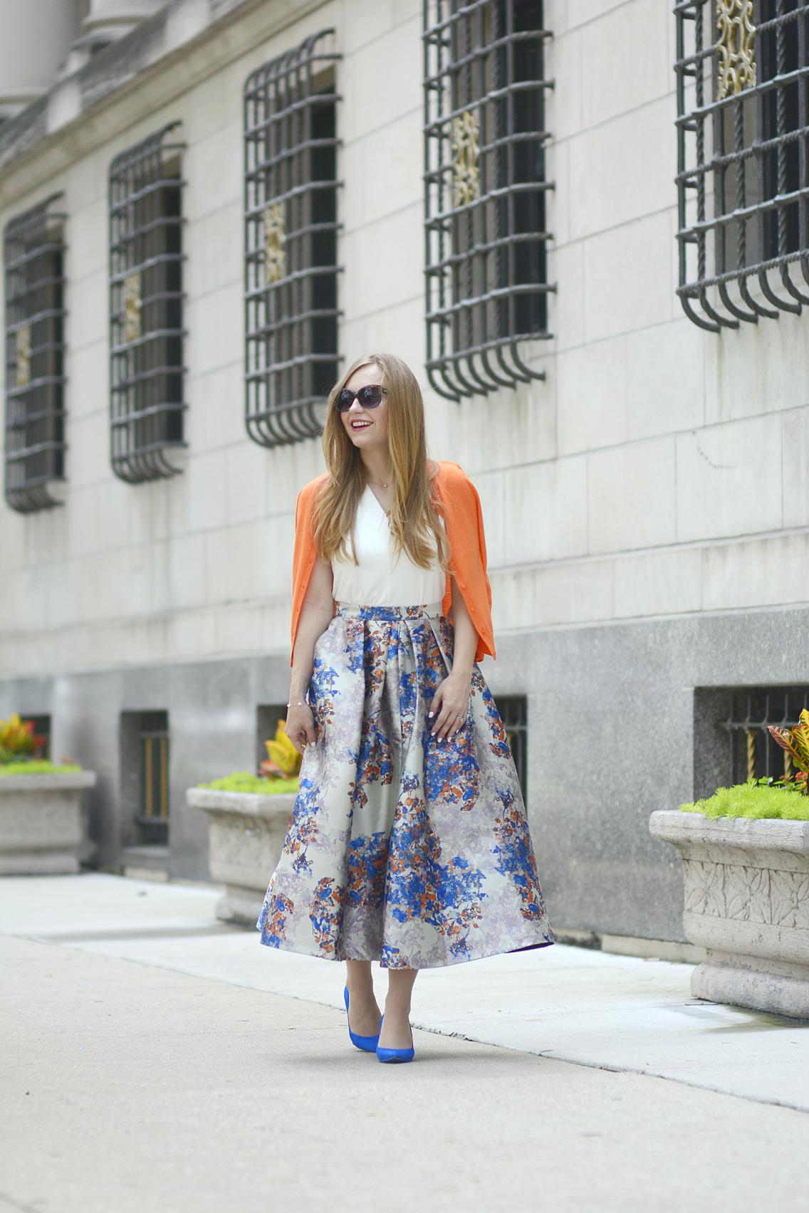 LK Bennett Kenton Emilia Print Skirt Summer 19