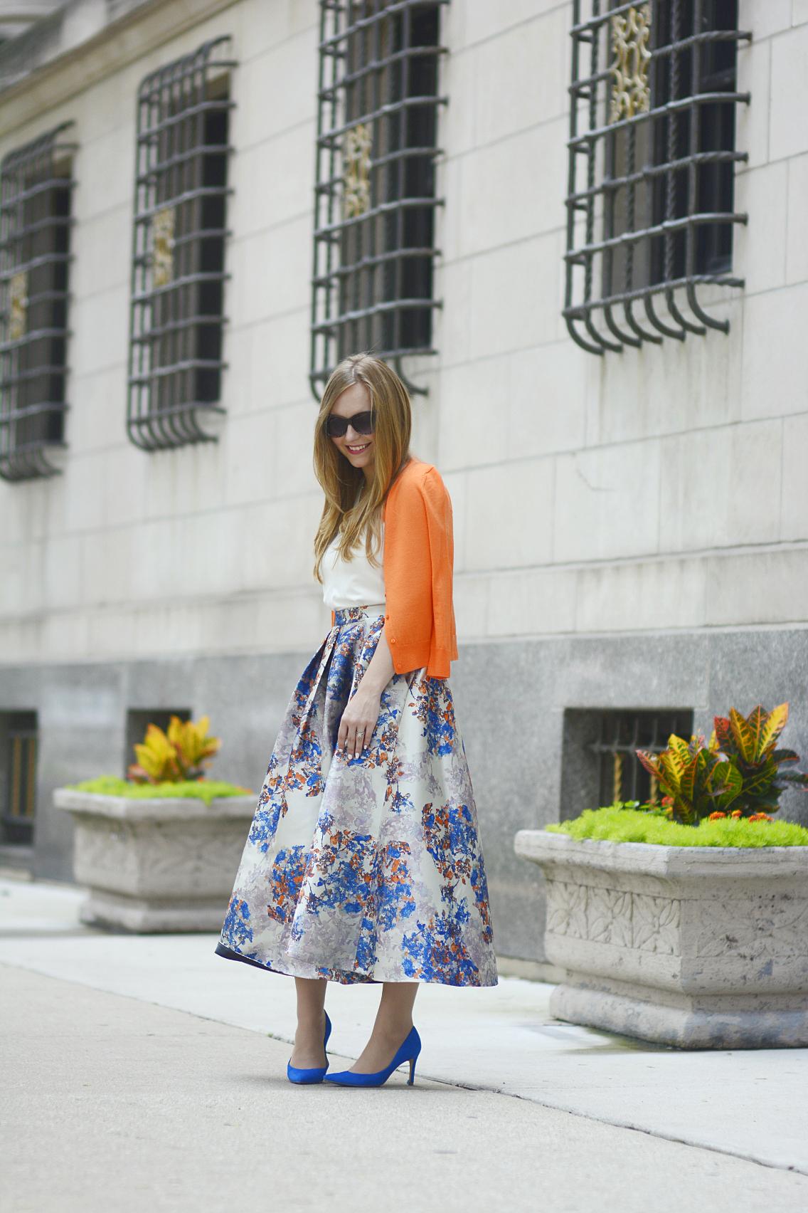 LK Bennett Kenton Emilia Print Skirt Summer 17