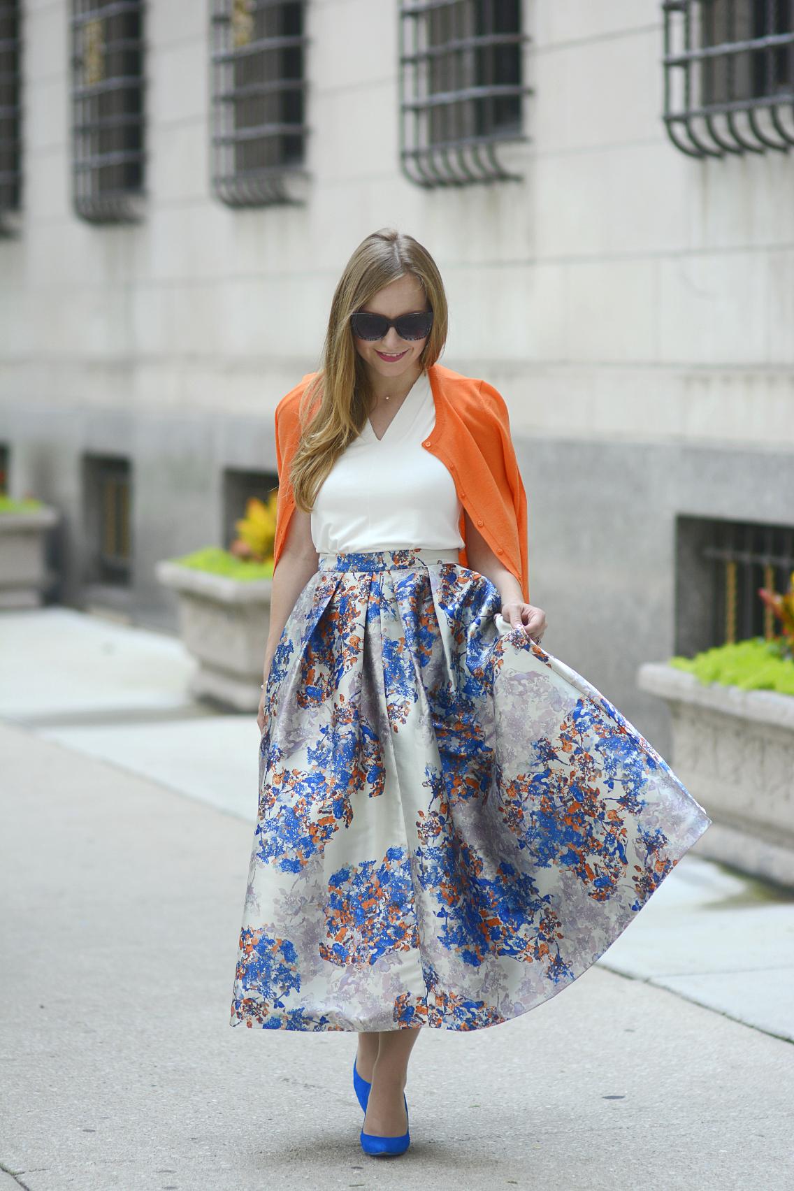 LK Bennett Kenton Emilia Print Skirt Summer 13