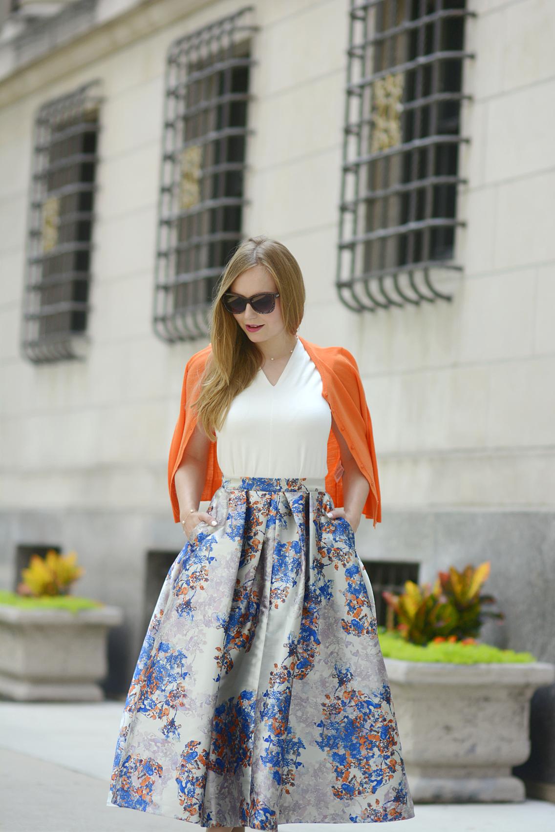 LK Bennett Kenton Emilia Print Skirt Summer 12