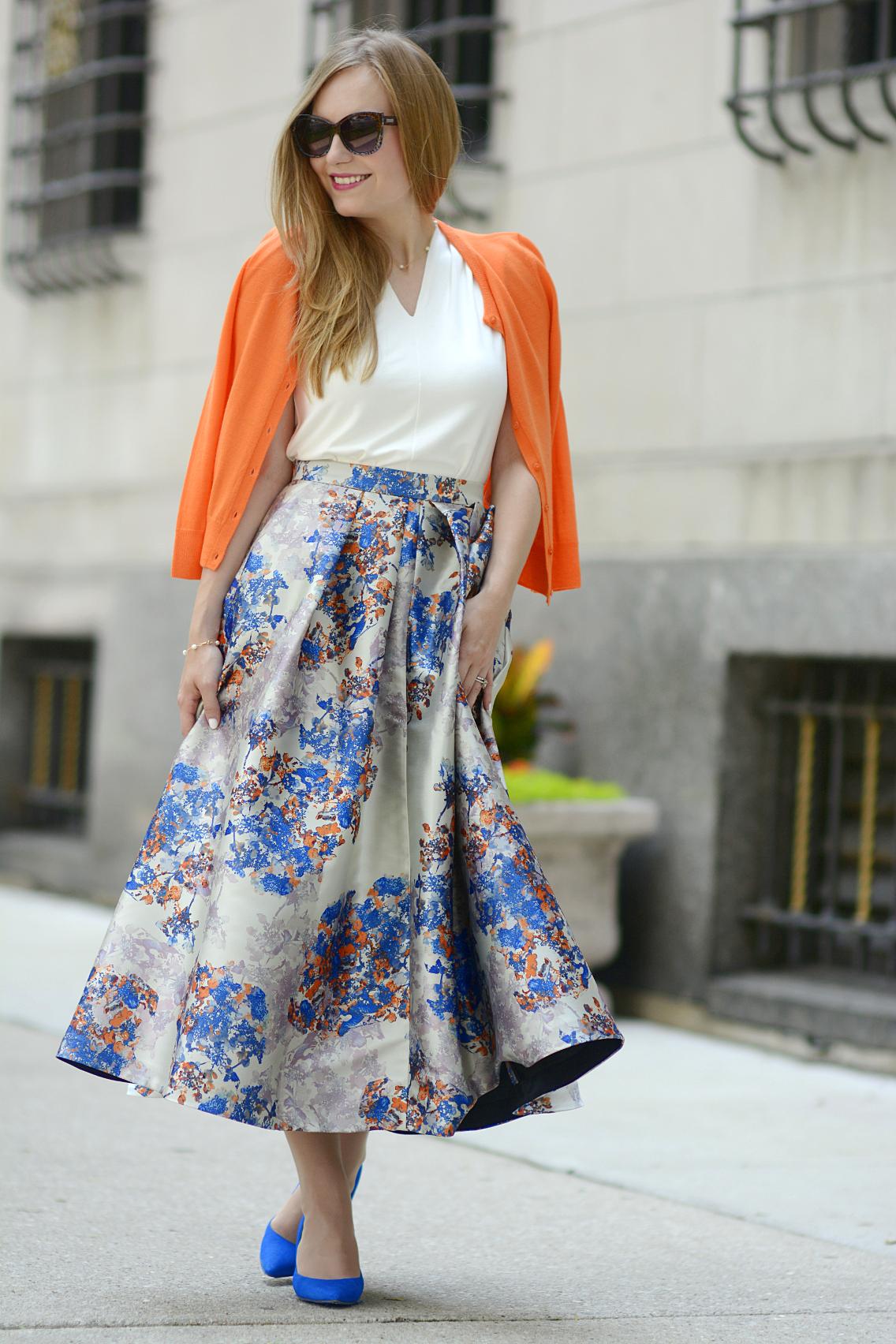LK Bennett Kenton Emilia Print Skirt Summer 11