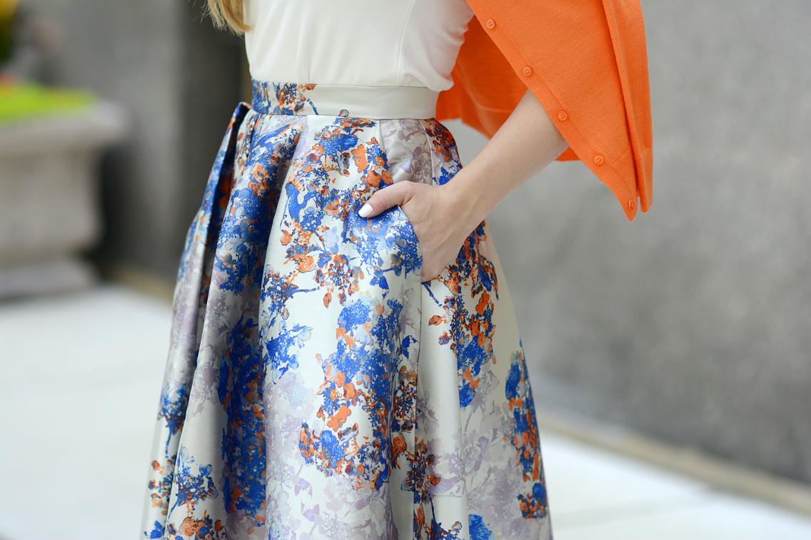 LK Bennett Kenton Emilia Print Skirt Summer 10