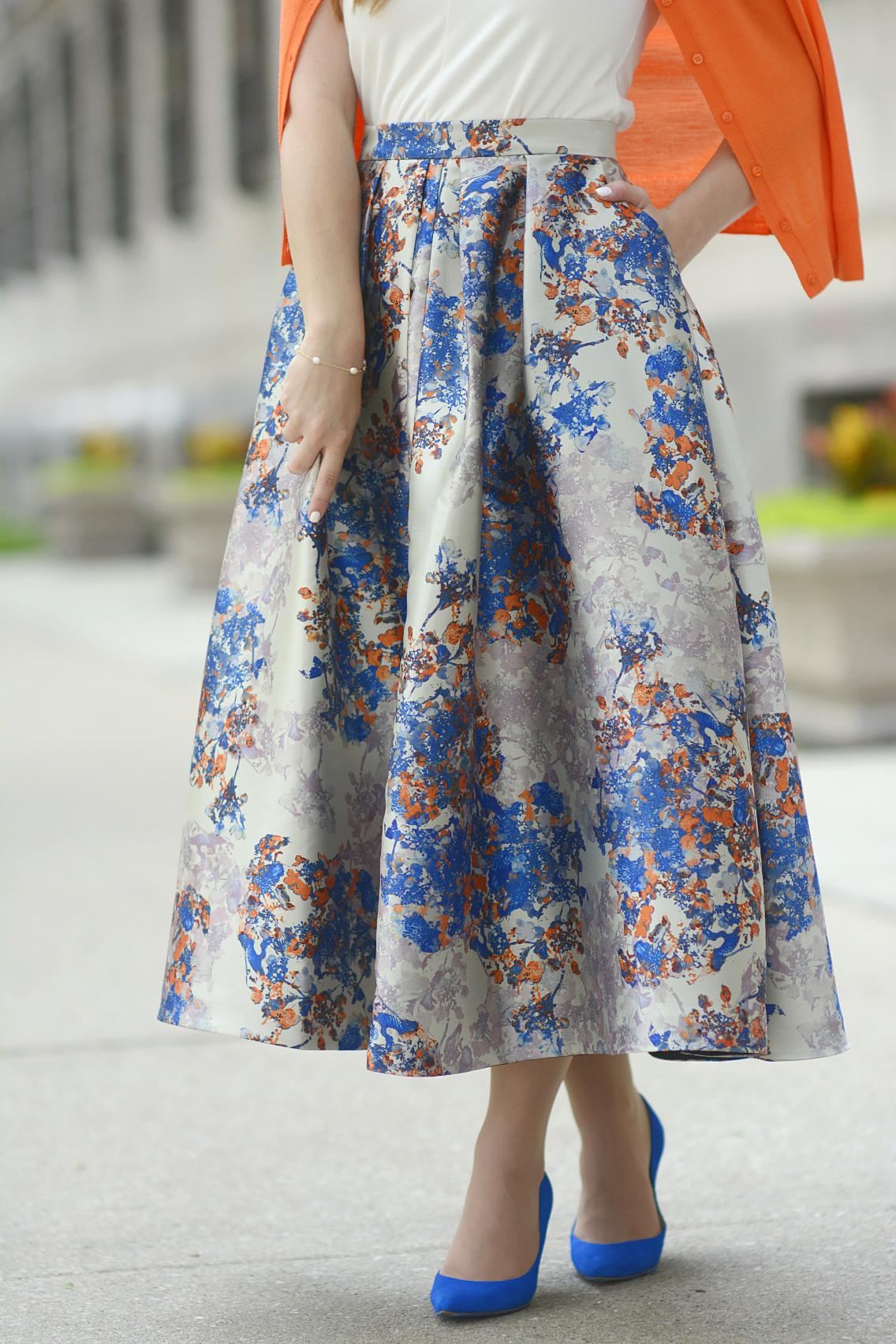 LK Bennett Kenton Emilia Print Skirt Summer 7