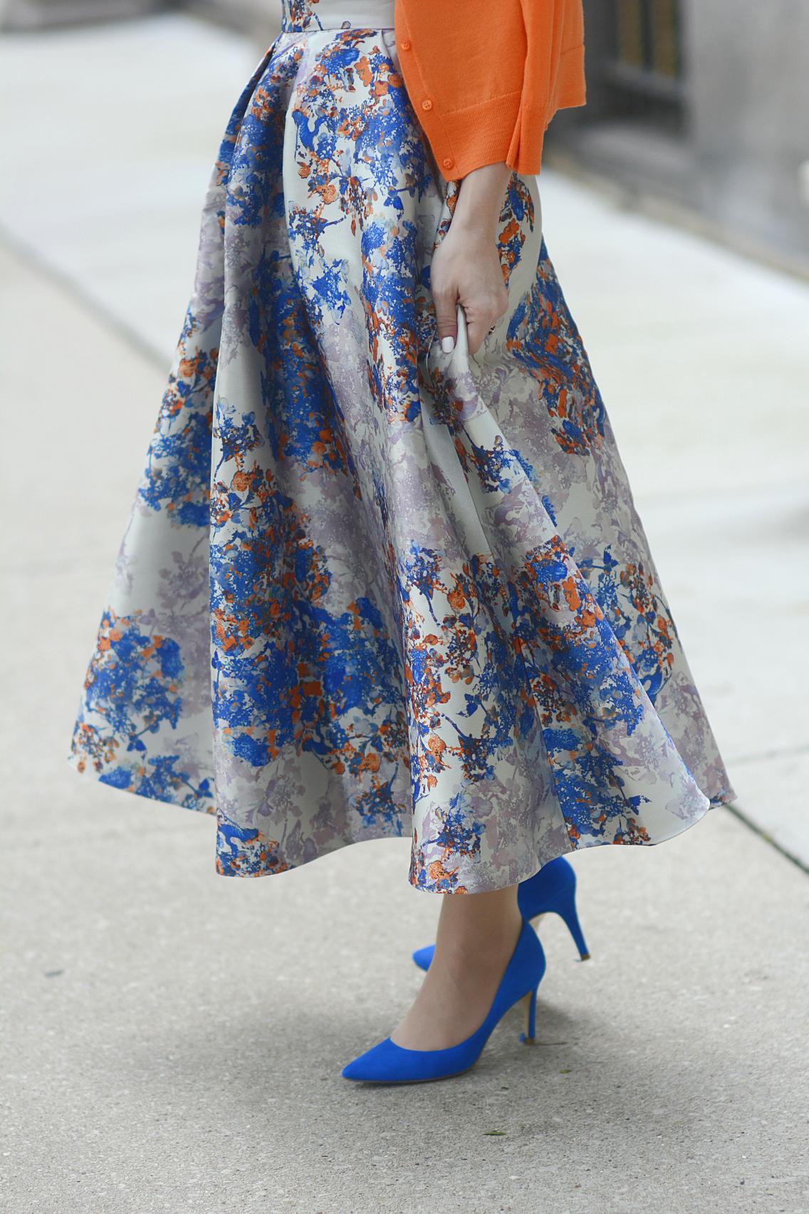 LK Bennett Kenton Emilia Print Skirt Summer 1