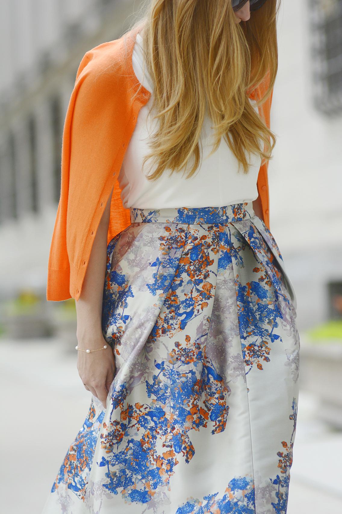 LK Bennett Kenton Emilia Print Skirt Summer