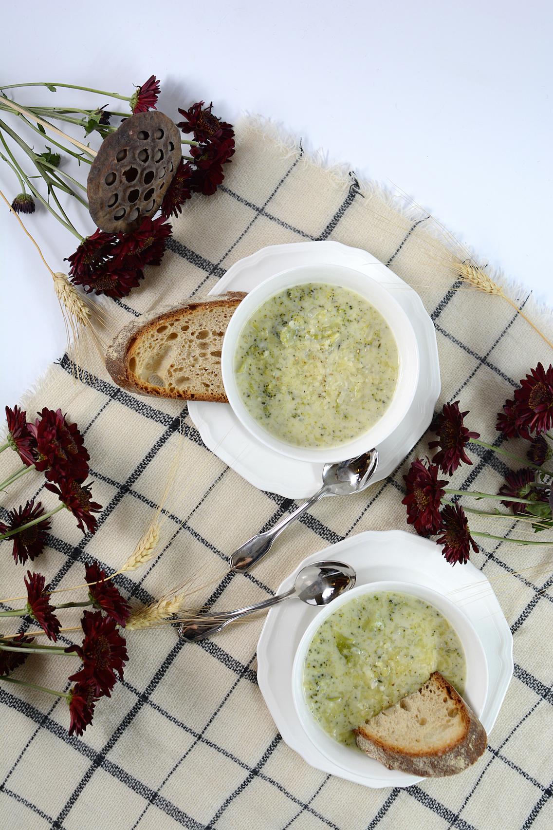 Parmesan White Cheddar Broccoli Soup 4