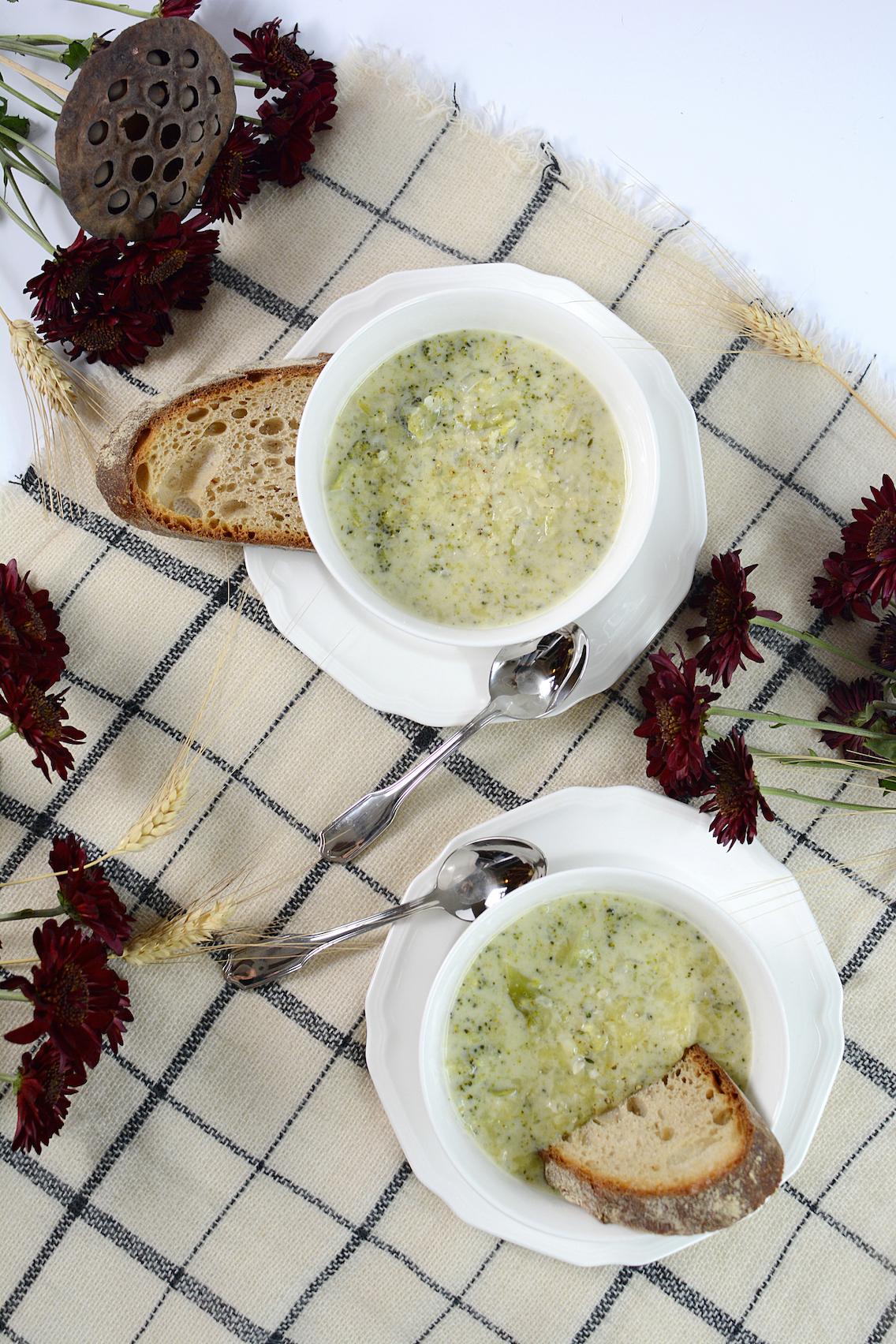 Parmesan White Cheddar Broccoli Soup 5