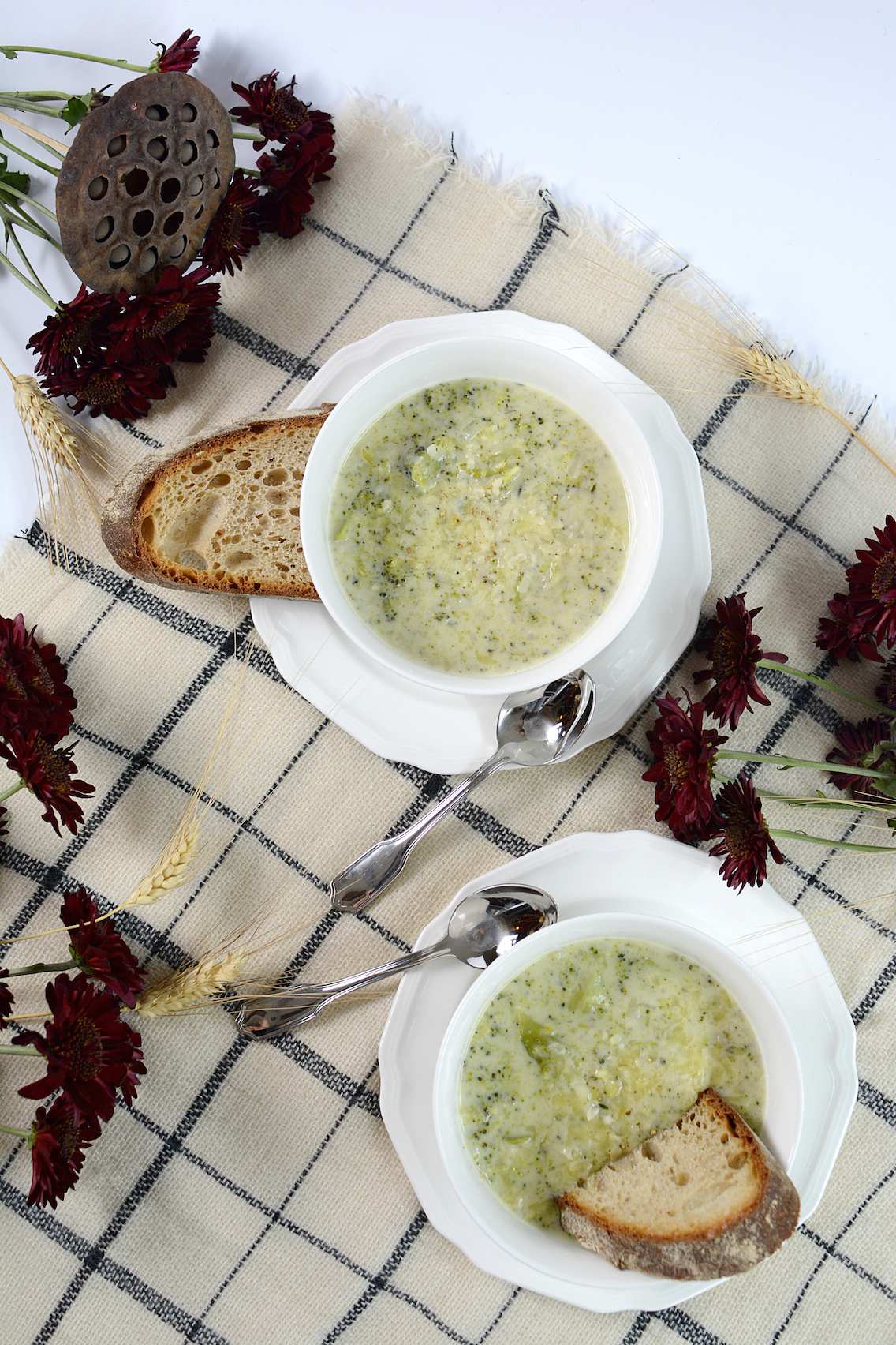 Parmesan White Cheddar Broccoli Soup 6