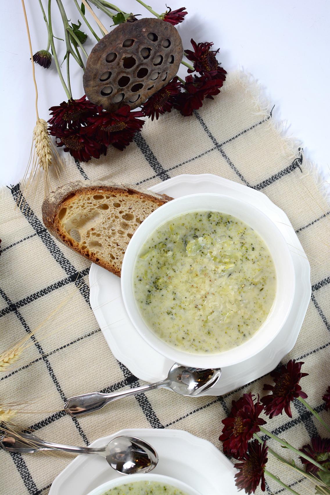 Parmesan White Cheddar Broccoli Soup 7