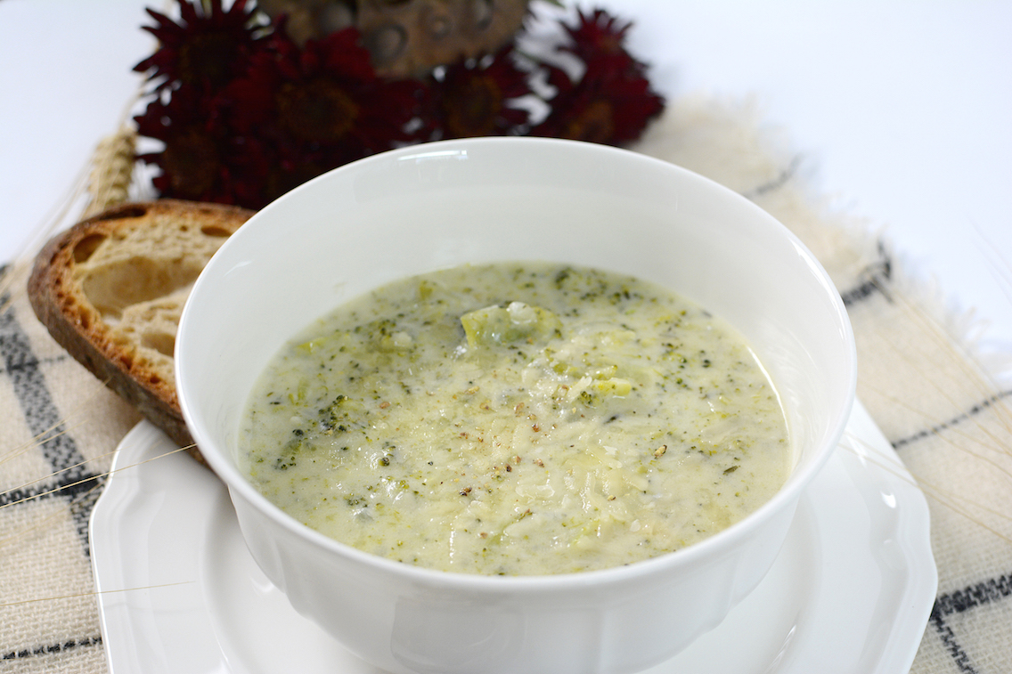 Parmesan White Cheddar Broccoli Soup 9