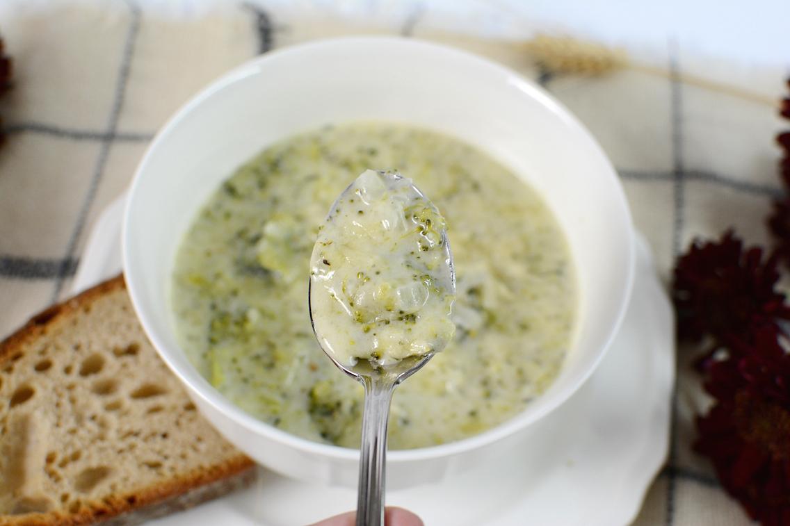 Parmesan White Cheddar Broccoli Soup 11