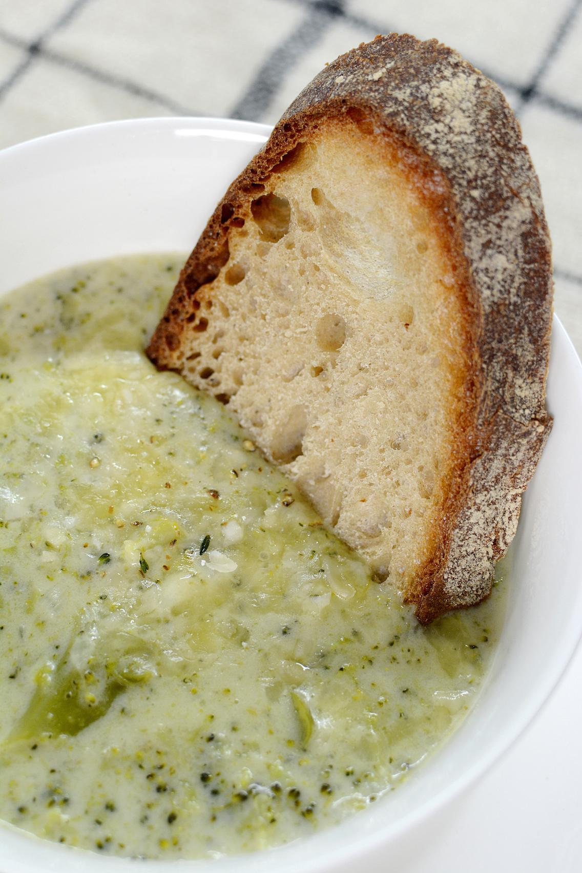 Parmesan White Cheddar Broccoli Soup 12
