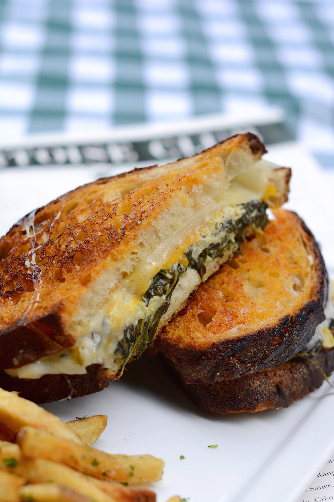 Tortoise Club Spinach and Artichoke Grilled Cheese Sandwich